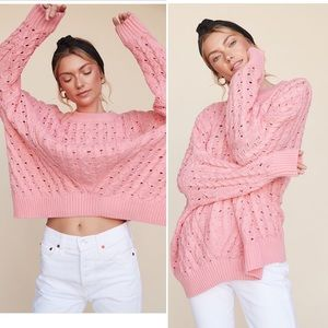 Wildfox baggy baby pink sweater